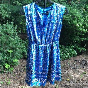 JCREW blue floral dress